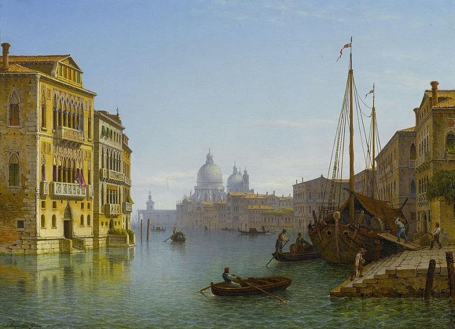 Canal Grande mit Blick auf Santa Maria della Salute (1841)