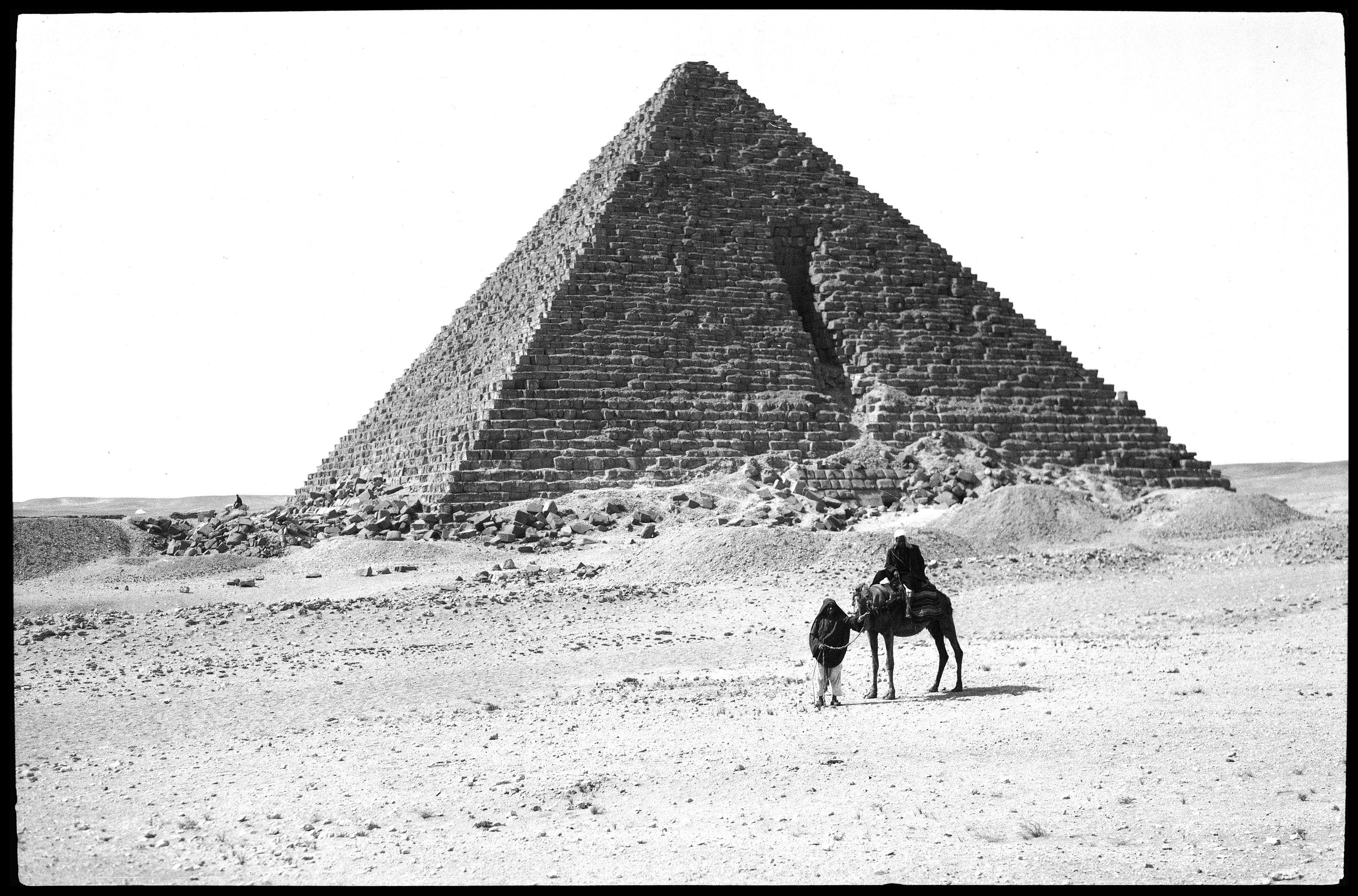 Гиза. Пирамида и верблюд