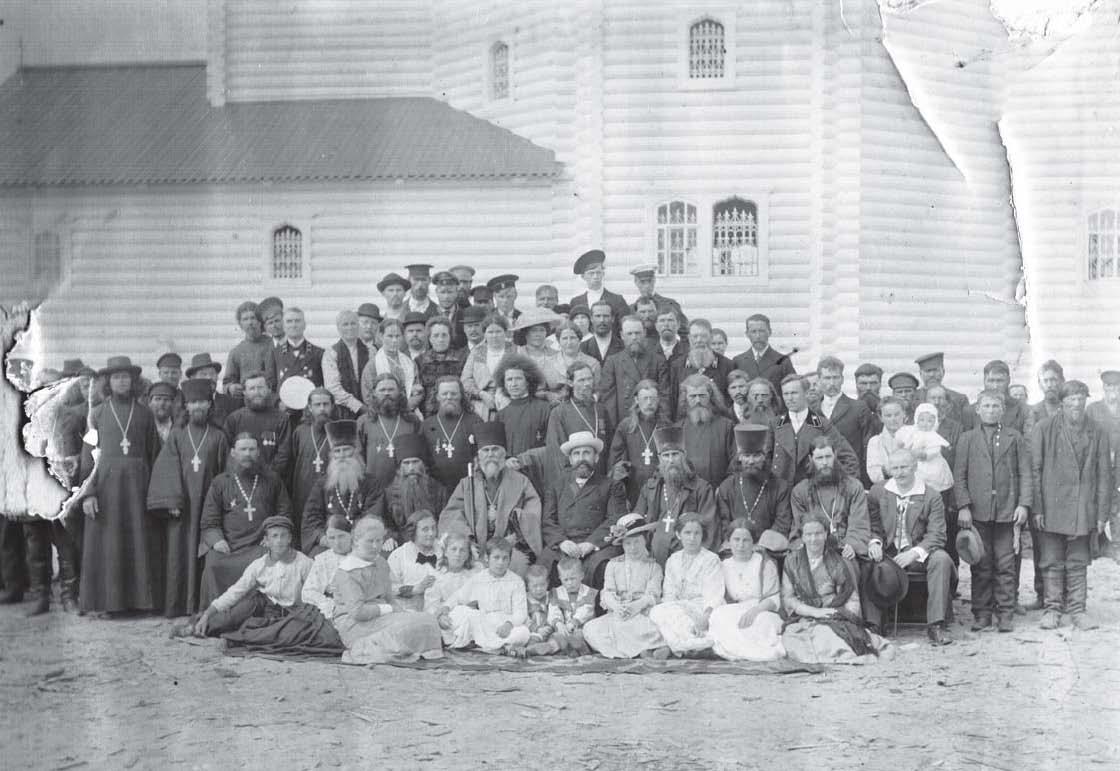 Окрестности Холмогор. На освящении Никольского храма в селе Зачачье. 1915