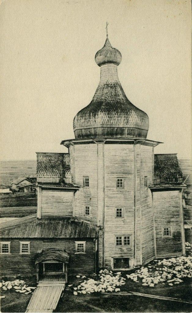 Окрестности Холмогор. Село Зачачье, Никольский храм нач. 17 века