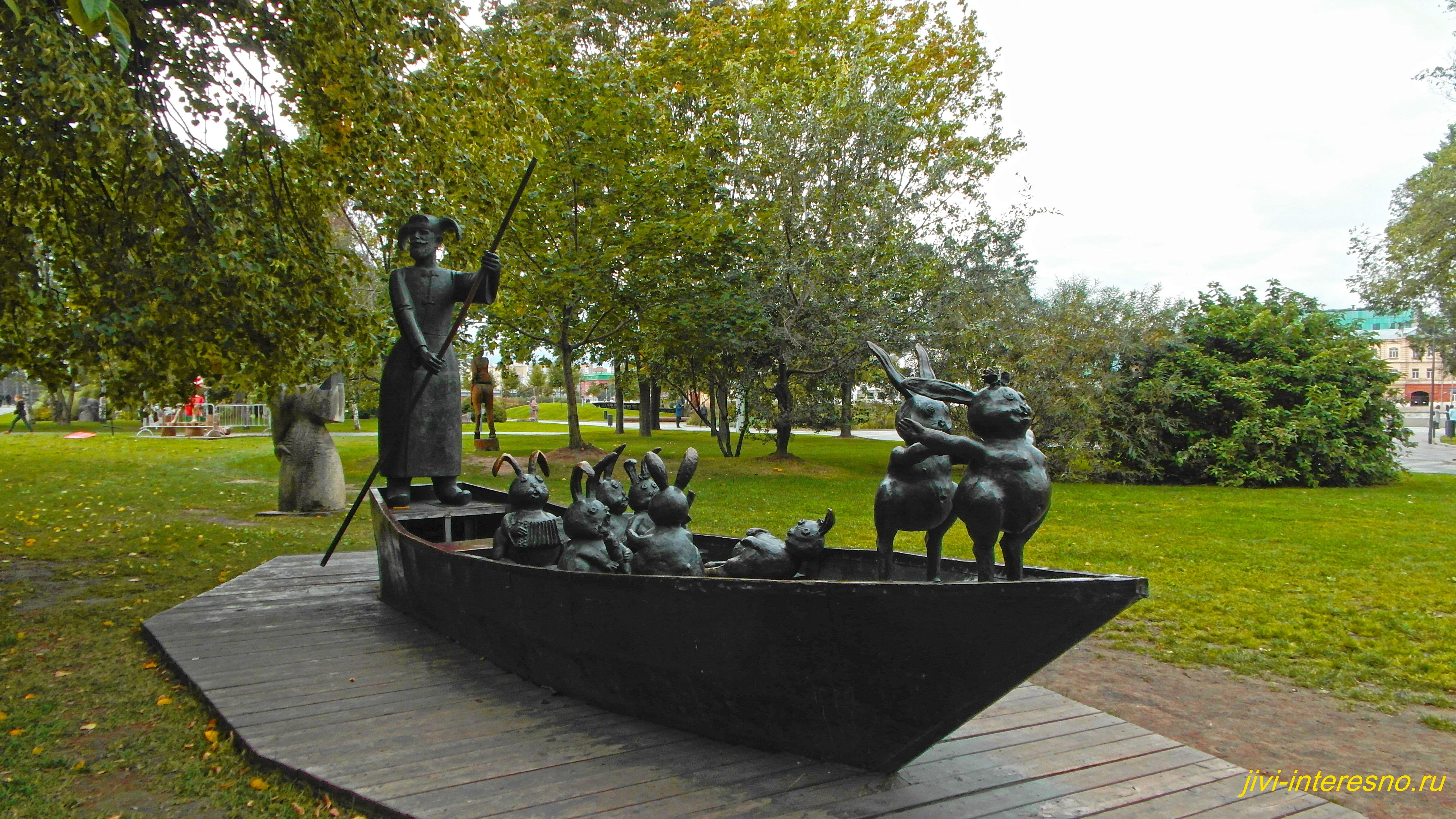 Парк Музеон в Москве, Дед Мазай и зайцы