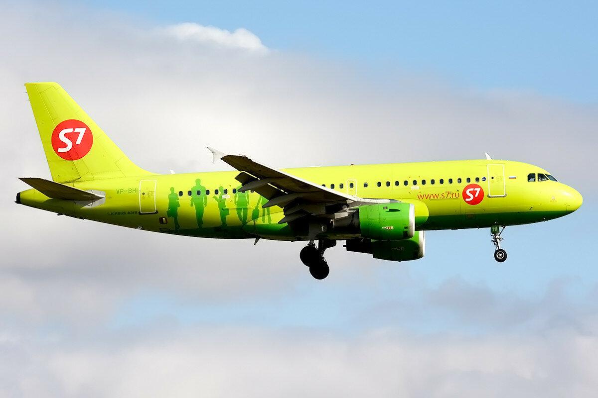 Airbus A319-114.  S7 Airlines. VP-BHI.