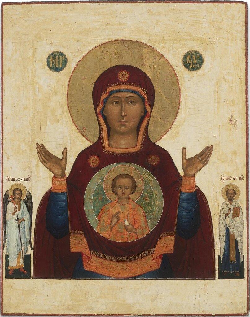 Икона Божией Матери Знамение. ок.1800. 44.5 х 35 см.jpg