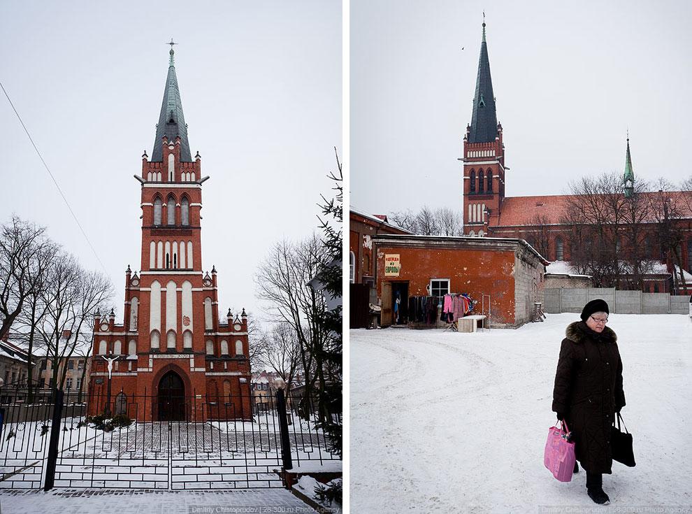 В Черняховске сохранилось много интересных немецких зданий, жаль, что не в идеальном состоянии: