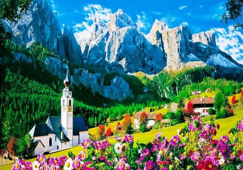 Горный Массив Селла, Валь-Гардена, Доломитовые Альпы, Италия..jpg