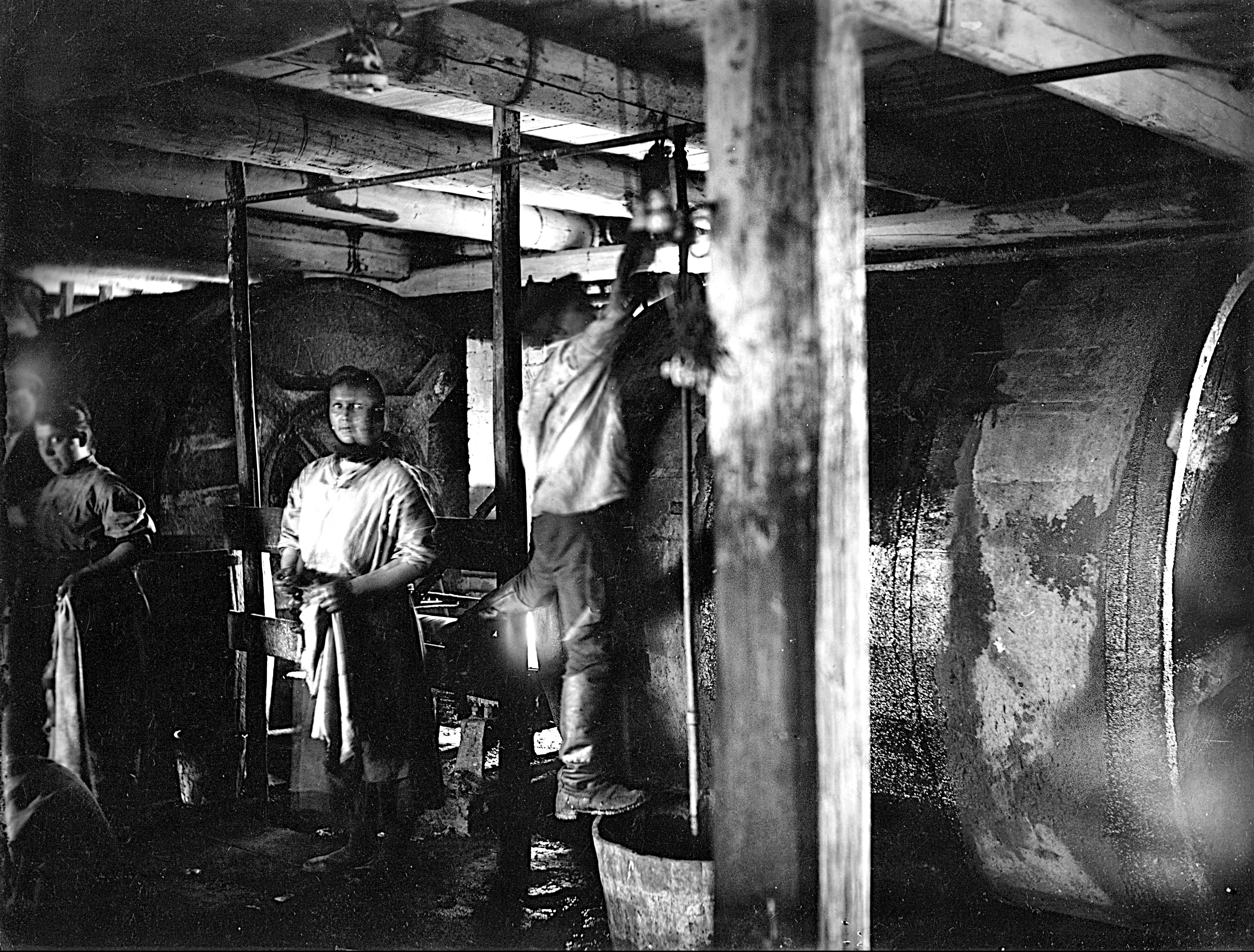 На кожевенном заводе