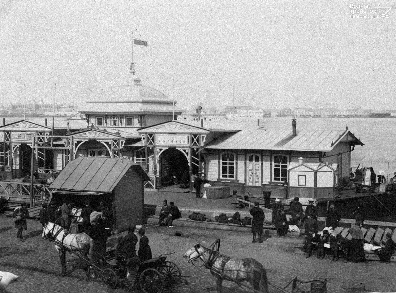 Причал Сормовской линии. 1905