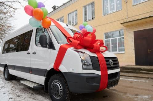 Ермолинской школе-интернату подарили новый микроавтобус
