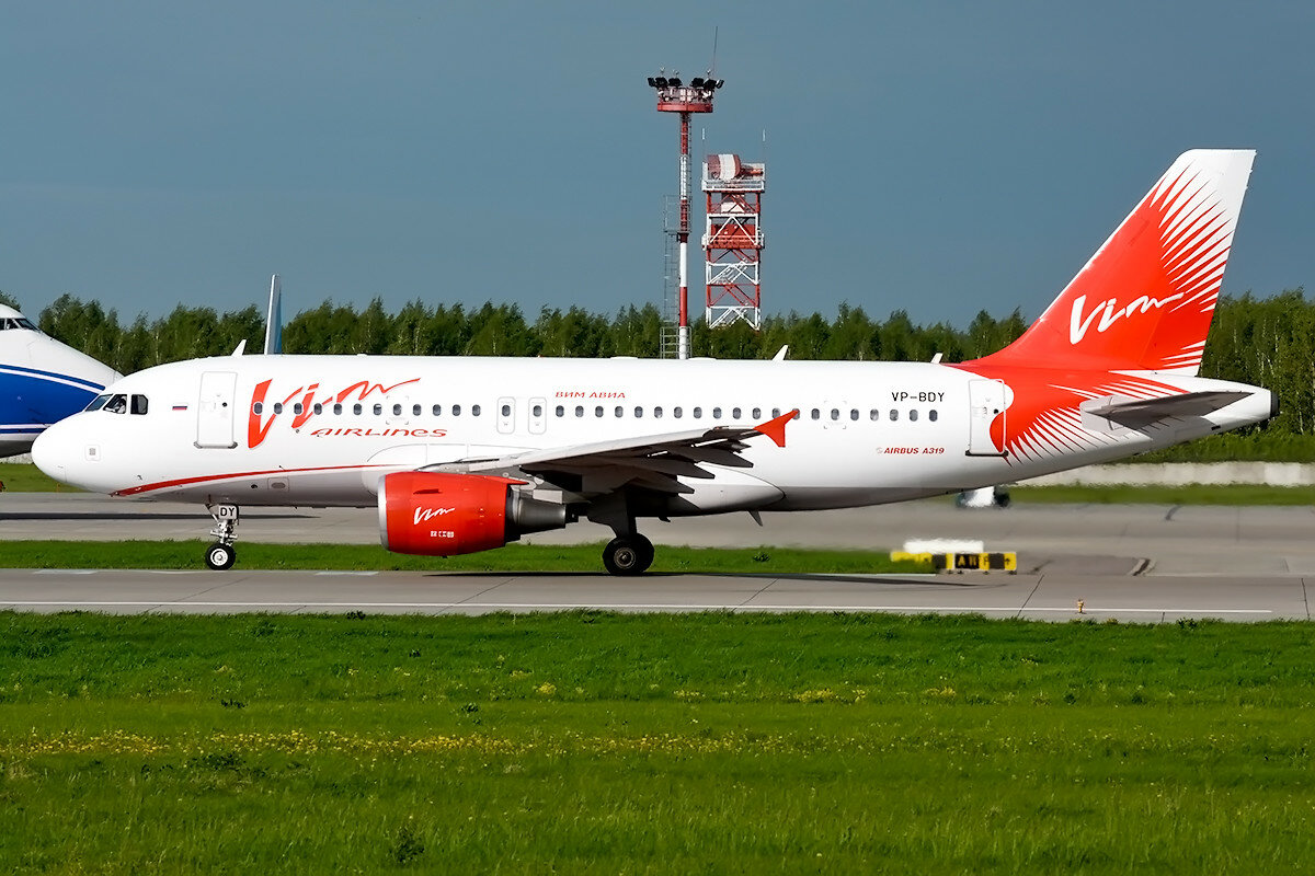 Airbus A319-111. Vim Airlines. VP-BDY.