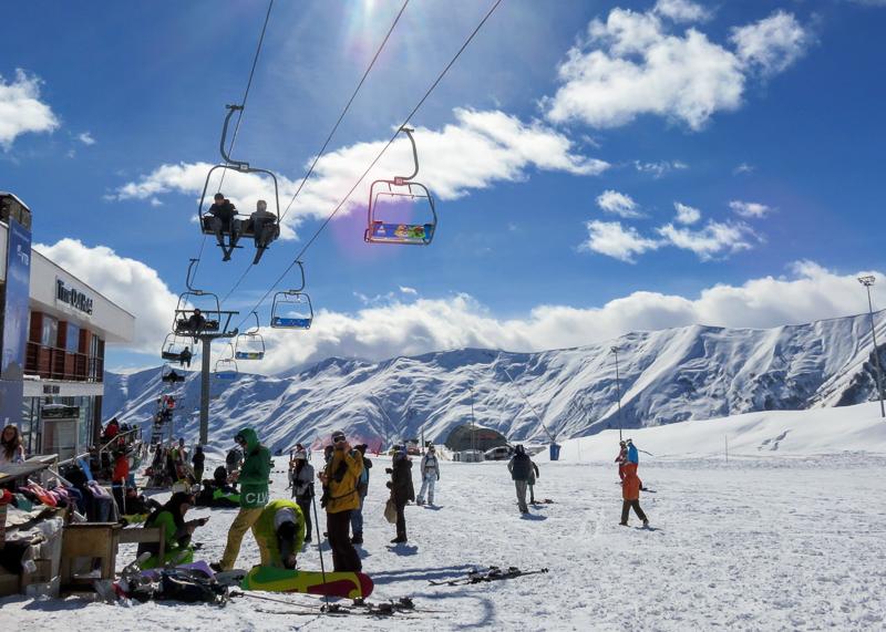 Климат в Гудаури - идеальный для горнолыжного курорта