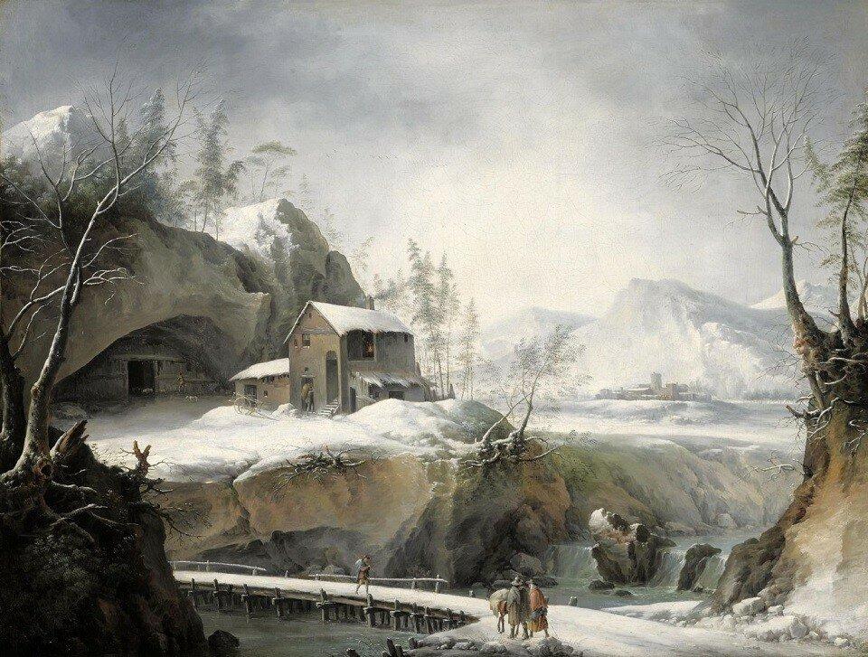 Зимний пейзаж с путешественниками (A winter landscape with travellers)_73 x 97_х.,м._Частное собрание.jpg