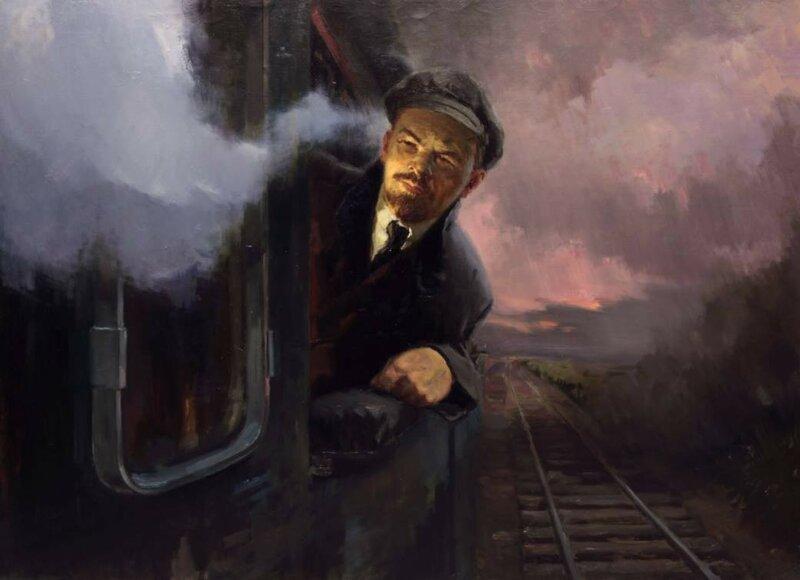 Аладжалов С.И. Ленин едет в Петроград.