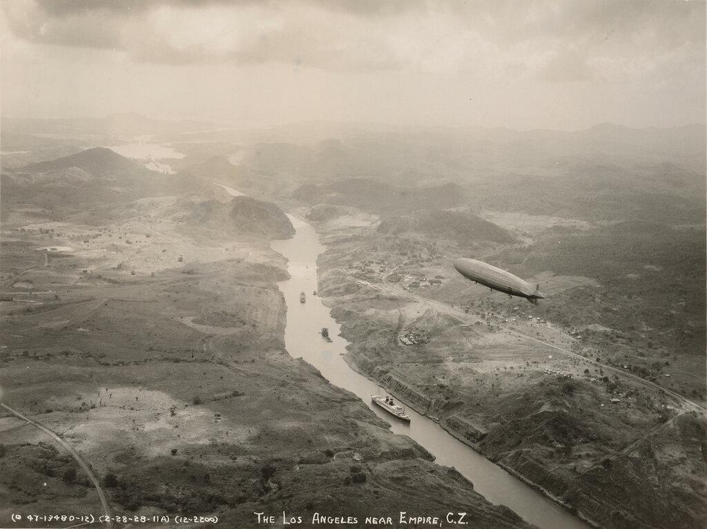 The Los Angeles near Empire, C.Z., 28 Feb 1928, Panama Canal Zone