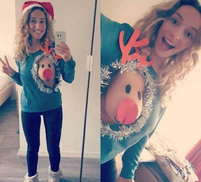 0 17ca44 9e007d32 XL - Модная рождественская забава американок #reindeerboob
