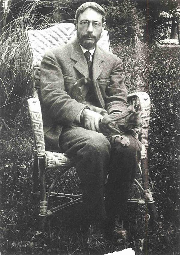 8. Пьер Боннар с котом.