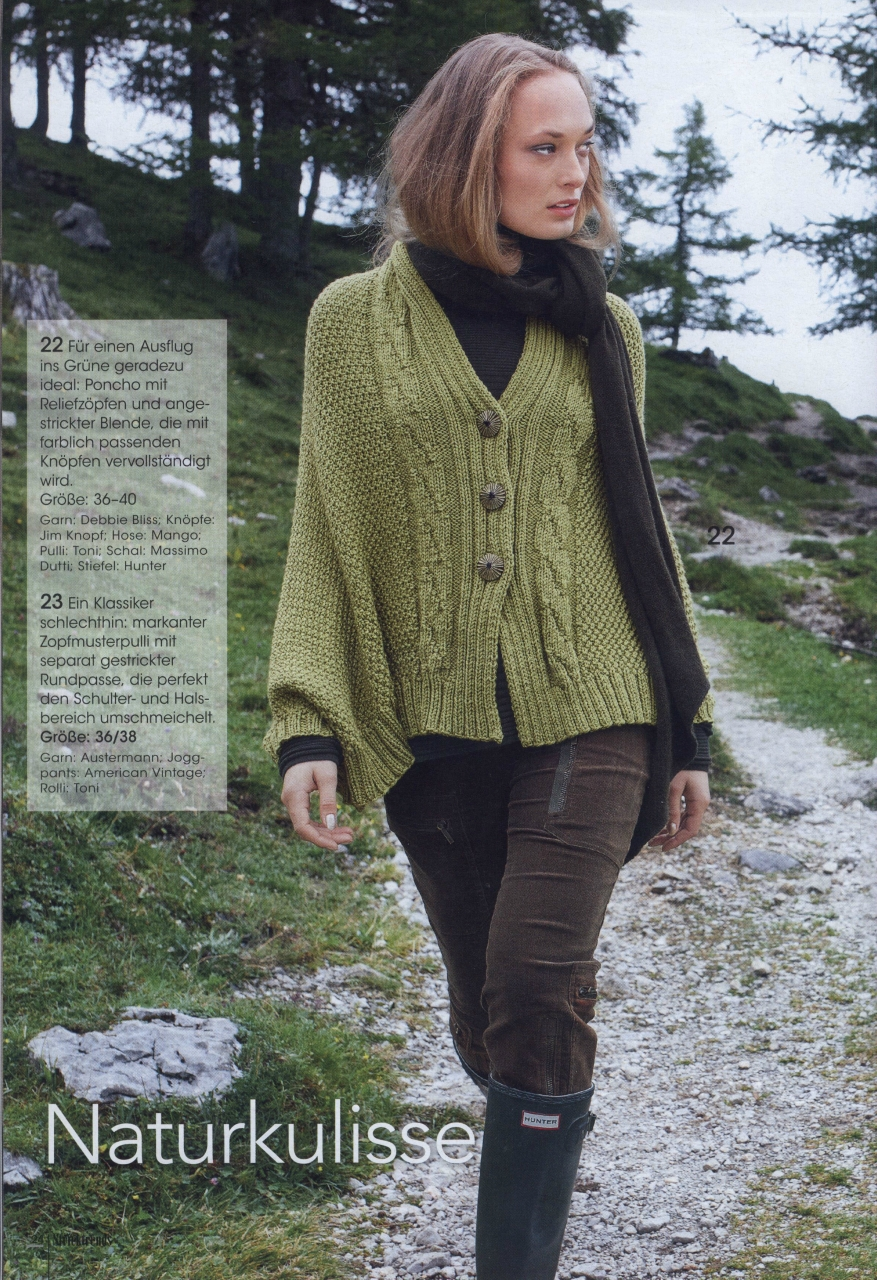 Pullover mit Rundpasse aus Stricktrends 319, 1 versch. Farben