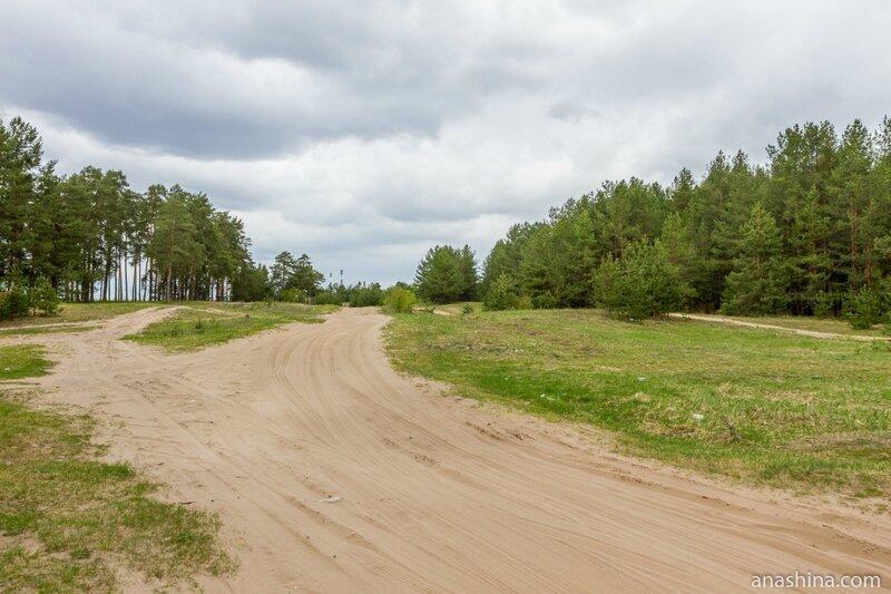 Дорога вдоль берега Оки, Нижегородская область