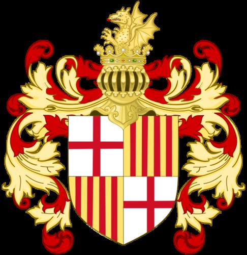 герб Барселоны в XVII-XVIII веках