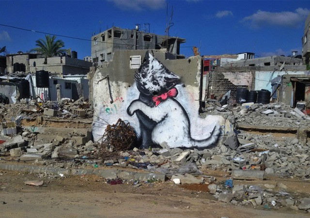 Street Art Pieces by Banksy in Gaza (5 pics)