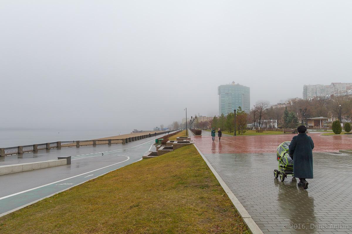 Самара набережная туман фото 3