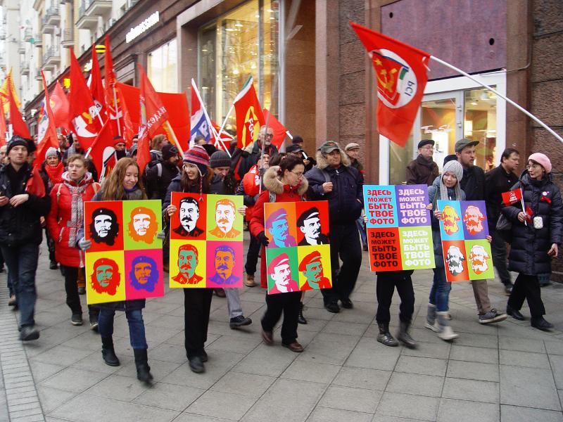 100 лет Октября, ноябрьская демонстрация по Тверской