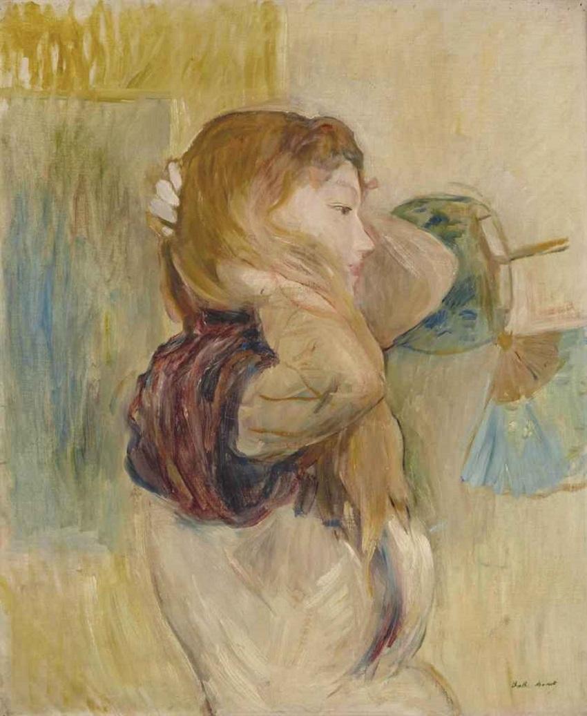 Jeune femme relevant ses cheveux , 1894.