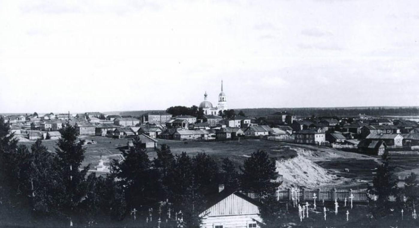 Вид со Свято-Лазаревской церкви на горку Хохлинка и Свято-Троицкий собор
