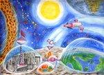 """Головяшкин Тимофей (рук. Стрикулистова Лидия Константиновна) - """"Освоение космоса"""""""