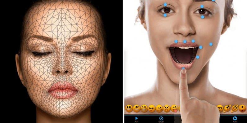 Приложение Mug Life сканирует лицо по фотографии и составляет карту точек.