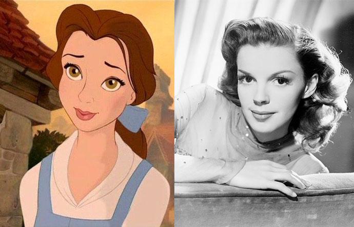 Белль — Джуди Гарленд    Эффектную внешность и мимику главной героини мультфиль