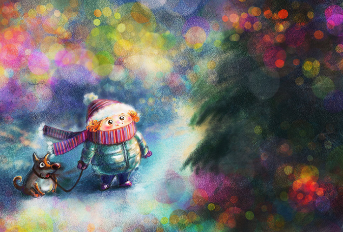 Я Деду Морозу письмо напишу, Волшебную палочку я попрошу, С узором снаружи и светом внутри, Чтоб всё