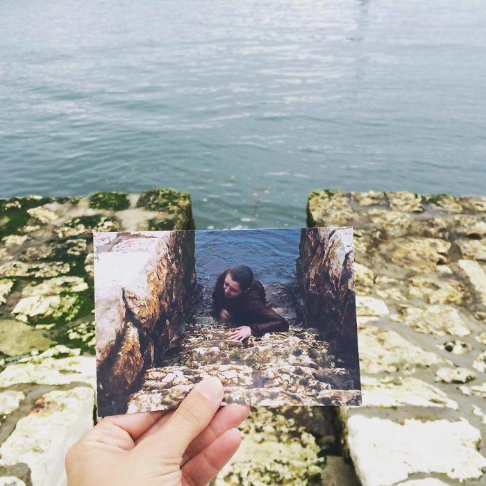 В гавани маленькой деревни снимались сцены с плавающей и ныряющей Арьей Старк, которая возвращается
