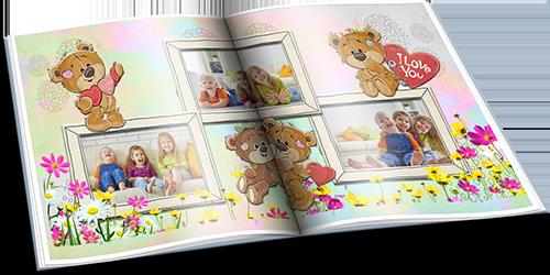 День Рождения с мишками Тедди - Детский фотоальбом