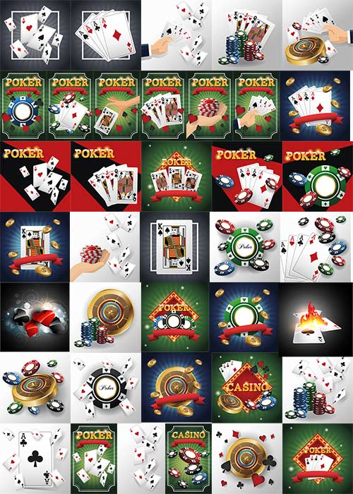 Казино и карты покера - Вектор / Casino and poker cards - Vector