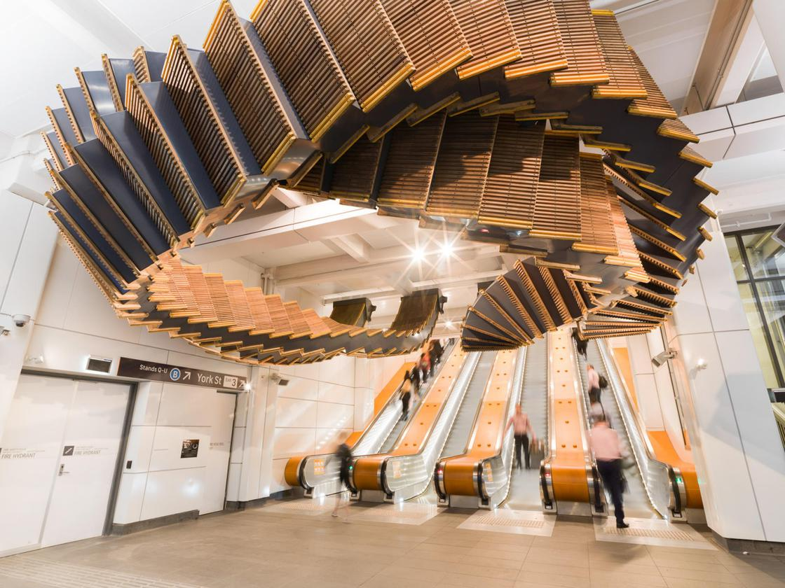 These 80-year-old wooden escalators become a beautiful sculpture