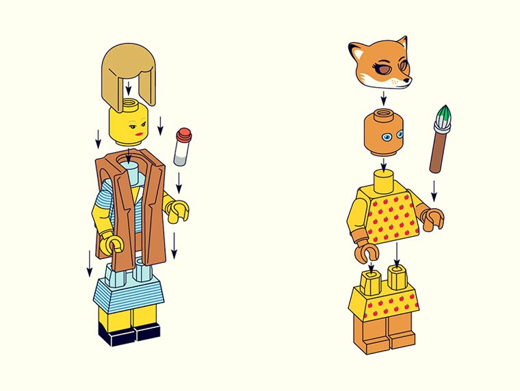 LEGO Wes Anderson – The cult characters of Wes Anderson as LEGO Minifigs