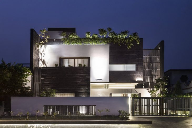 Charged Voids  designed this stunning 370 m2 family residence located in K