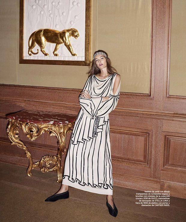 Josephine Le Tutour Stars in Bazaar Spain December 2017 Cover Story