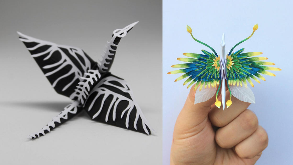 Icarus Project – This artist creates 1000 origami cranes, all different