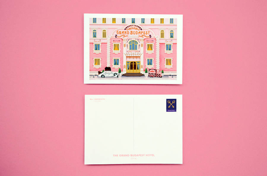 Postcards and Stamps Inspired by Wes Anderson (19 pics)