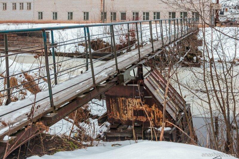 Пешеходный мост, Вытегра
