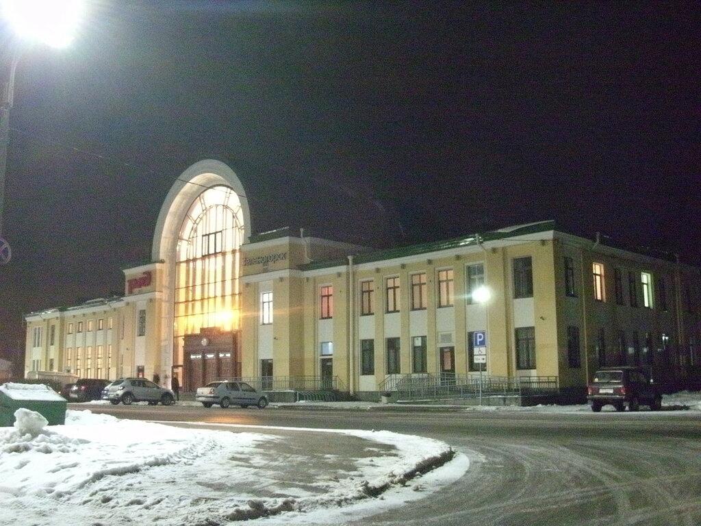 Здание железнодорожного вокзала в Зеленогорске