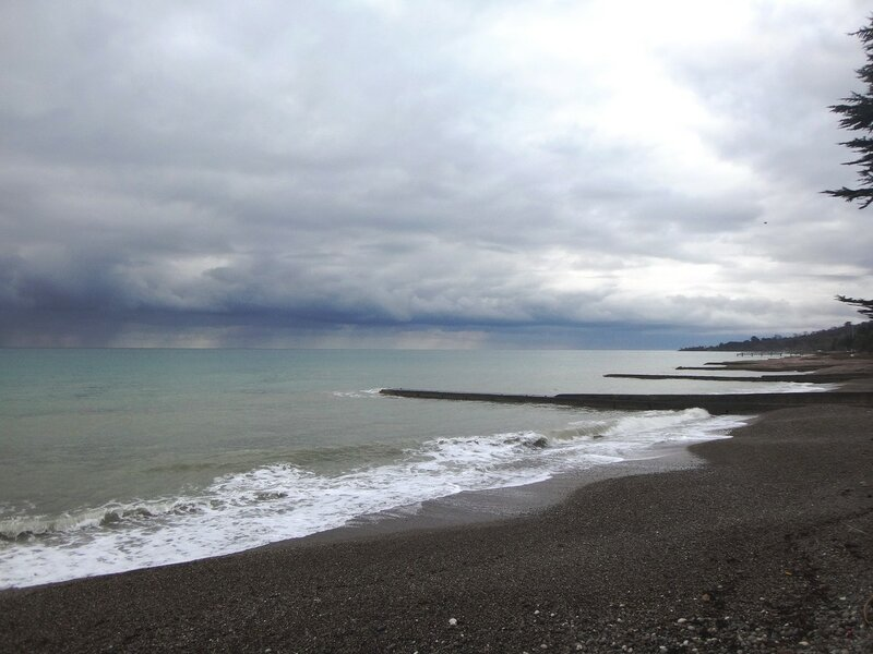 У моря Чёрного, в Абхазии, время зимнее, Новогоднее (10).JPG