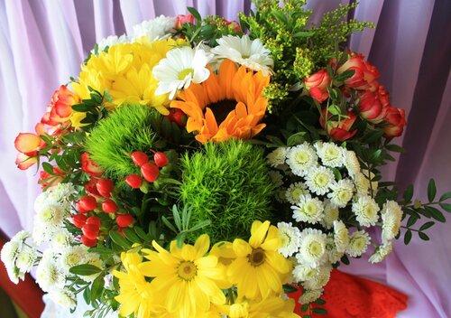 Летнее разноцветье на зимний день рождения!)))