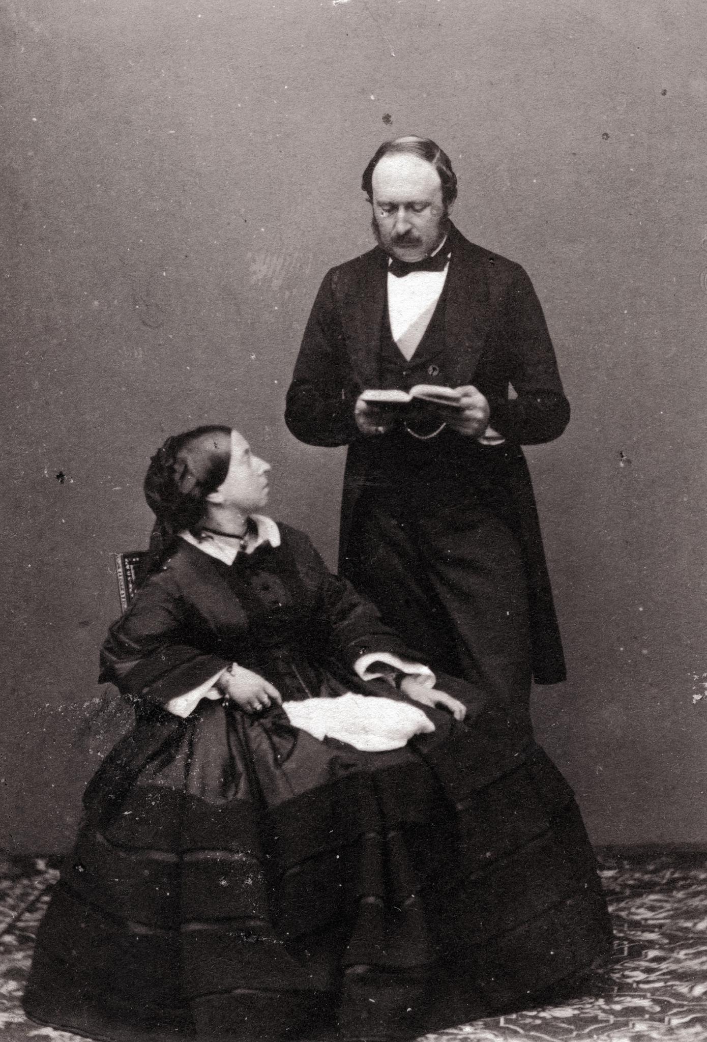 1860. Королева Виктория и принц Альберт