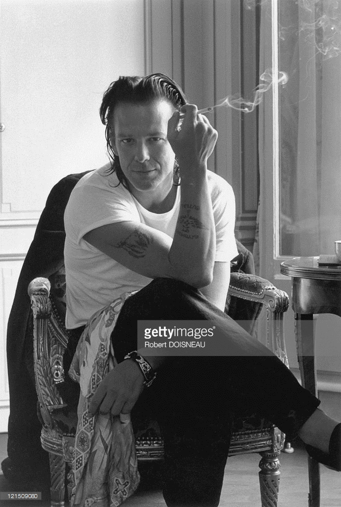 1992. Микки Рурк в Париже