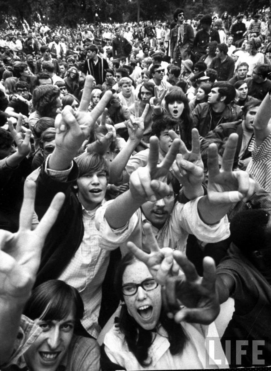 1967. Молодежь в парке Линкольна