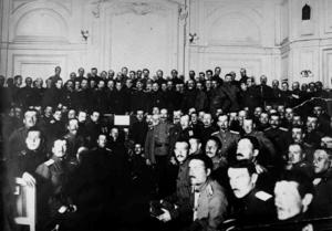 А. Ф. Керенский открывает Всероссийский съезд офицерских депутатов. Петроград, 8 мая 1917