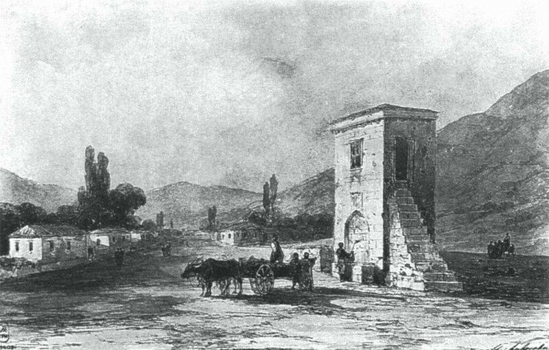 Айвазовский, здание с фонтаном, в котором останавливалась Екатерина II, Старый Крым