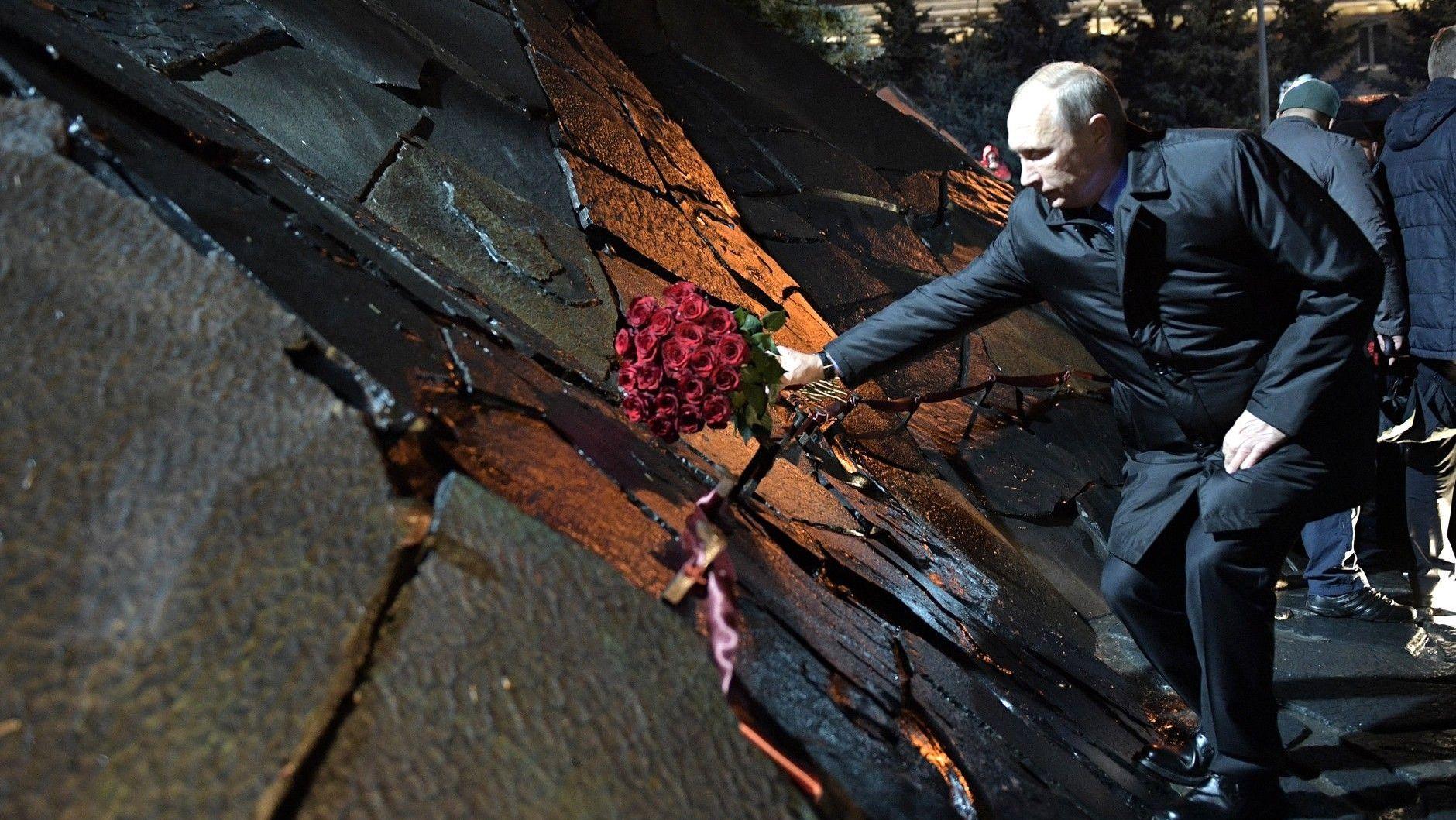 На церемонии открытия мемориала памяти жертв политических репрессий «Стена скорби»